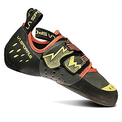 La Sportiva Men's OXYGYM Climbing Shoe, Carbon/Sulphur, 48