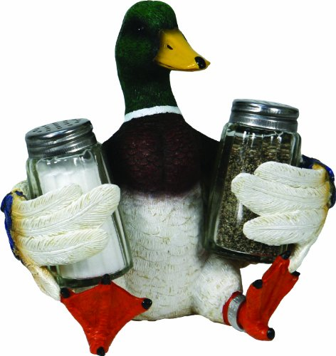 River's Edge Products Beautiful Hand Painted Poly Resin Salt and Pepper Shaker...
