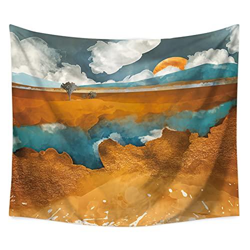 YYRAIN Nordic Wind Sun Mountain Tapiz Toalla De Playa Multifuncional Decoración del Hogar Ropa De Cama Cubierta De Cama 78.74x59.05 Inch{200x150cm} D