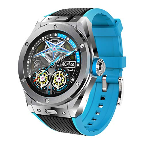 FMSBSC Reloj Inteligente Smartwatch con Llamada Bluetooth, Música Bluetooth, Monitor de Sueño, Presión Arterial, Pulsómetros,10 Modos Deportivos, Pulsera Actividad Inteligente,Plata