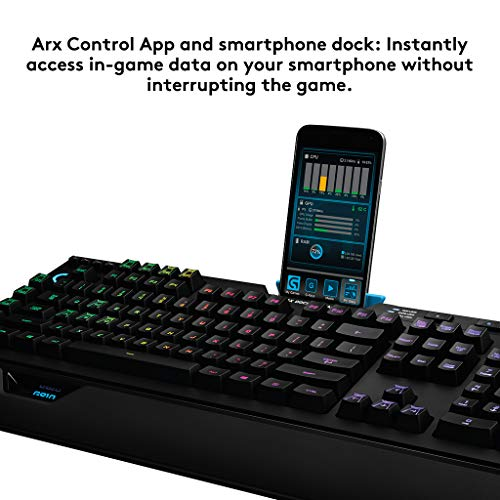 Product Image 7: Logitech G910 Orion Spectrum RGB Wired Mechanical Gaming Keyboard , Black