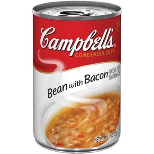 Campbell's, Condensed Bean with Bacon Soup, 11.5oz Can (Pack of 6)