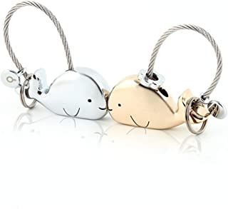 MILESI Sweet Kissing One Pair of Whale Couple Keychain Valentine's Day Gift
