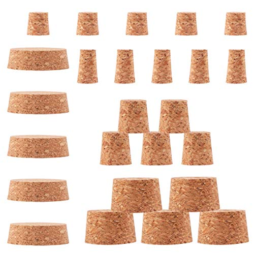 Artibetter 25 Piezas Corchos de Vino Natural Botella de Vino Tapón de Botella Tapa de Sellado de Madera para Botella de Vino