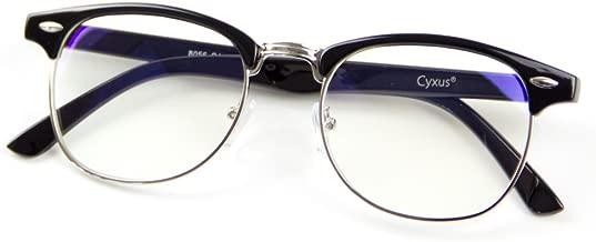 Cyxus Blue Light Blocking Glasses Lightweight Computer Glasses Stylish Eyeglasses Frame with Clear Lens for Women Men, Anti Eye Strain (M, 8056T01,Black)