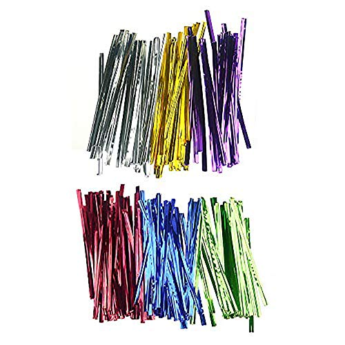 Metallic Twist Ties, 4 Inche Bag Twist Ties for Bread Candy Bags Storage (6 Colors of 4500 Pcs)