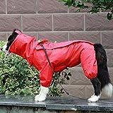 weichuang Die Kleidung für Haustiere Großer Fressnapf Hunderegenmantel im Freien wasserdichte Kleidung mit Kapuze Overall-Mantel for kleine Große Hunde Overalls Regen-Mantel-Labrador Kleider