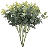 Tra cui: otterrete 3pezzi di eucalipto spray artificiale foglia Garland. Dimensioni: lunghezza totale circa 50cm (50cm), hanno ciascuno 16rami, lush foglia. Verde la vitalità, eucalipto lasciare sempre ti fanno felice e abbracciare questa natura....