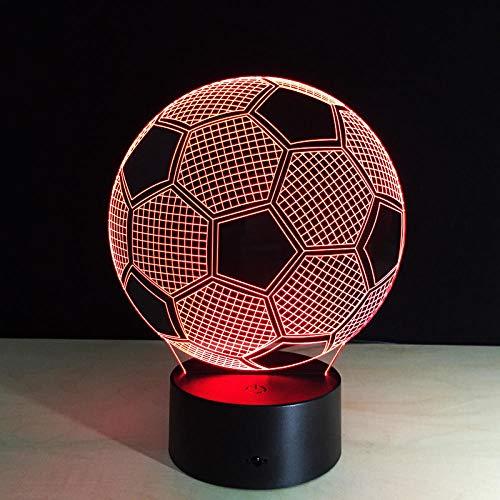 Lámpara 3D Sensor táctil Luz de noche de fútbol para fanáticos de los deportes de fútbol Mejor regalo Lámpara de cambio de 7 colores Lámparas de club de pelota redonda-Bola 5_Cambio de 7 colores