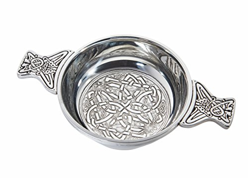 Wentworth Pewter - Celtic Circle Pewter Quaich Whisky Tasting Bowl Loving Cup Burns Night