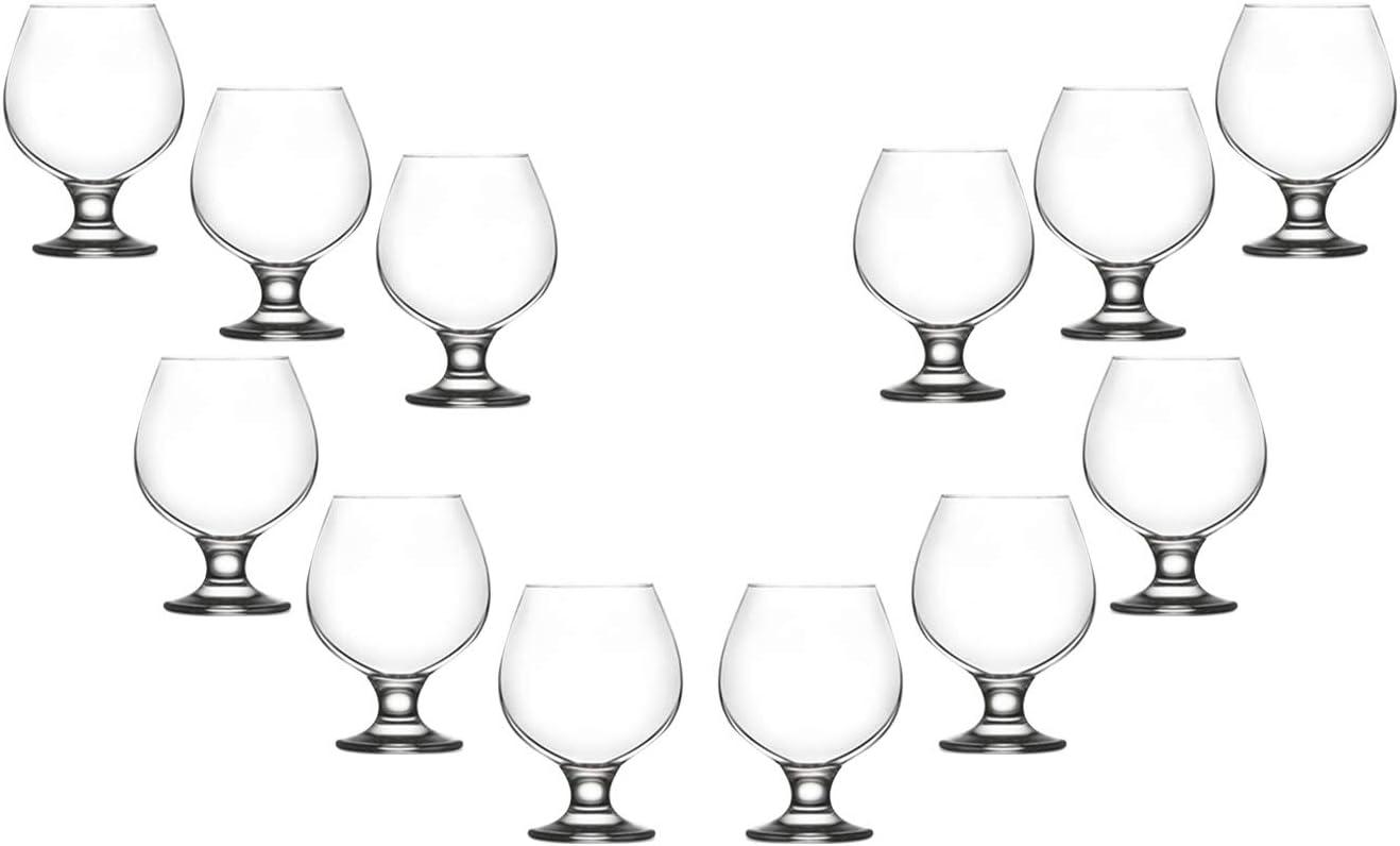 Misket Brandy Stemmed Low price Glasses Set Modern Clear Crystal 13.5 Max 57% OFF Oz