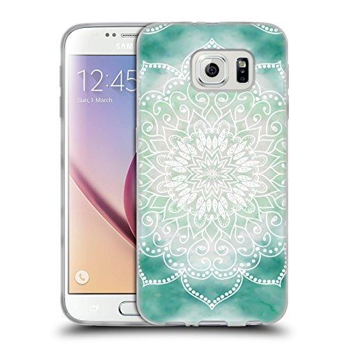 Head Case Designs Licenza Ufficiale Nika Martinez Boho Verde Mandala Cover in Morbido Gel Compatibile con Samsung Galaxy S6