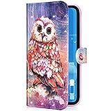 Compatible con Huawei P30 Pro Funda Piel PU Cuero,Billetera Flip Libro Tapa Purpurina Glit...