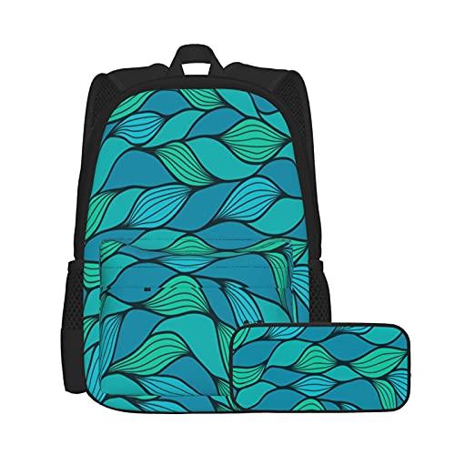 SDBUYW-ZQ Zaino scuola,Gamepad moderno Pulsanti di azione colorati Joystick D-Pad, Bookbags per bambini, adolescenti, studenti universitari e set di due pezzi con astuccio.