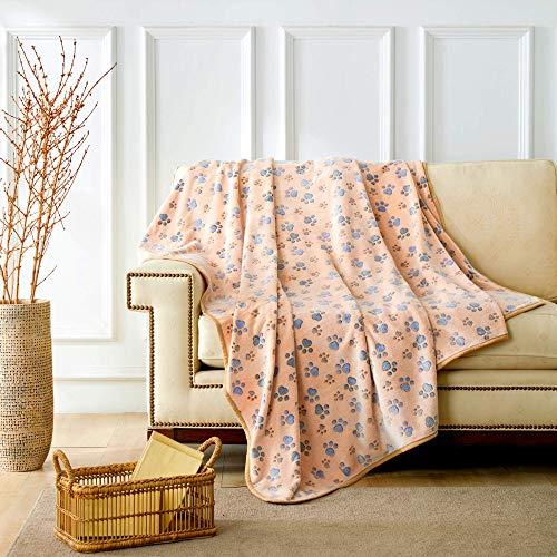ALLISANDRO Hundedecke Flaushige Decke Super Softe und Warme Hundedecke Fleece Decke/Tier Schlafdeck XL