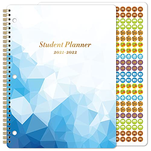 2021-2022 Student Planner - Academic Monthly & Weekly Planner with