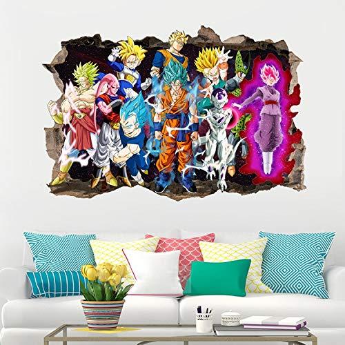 Anime Dragon Ball Z Goku Anime Poster Estilo nórdico Arte de la Pared Moda Lienzo Pintura Impresiones Dibujos modulares Imágenes Decoración del hogar 3D Club Dormitorio Juvenil Habitación para niñ