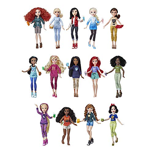 Disney Princess Ralph Breaks The Internet Movie Dolls with Comfy Clothes & Accessories, 14 Doll Ultimate Multipack