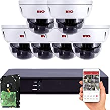 BTG 5MP PoE Security IP Camera NVR System with 4K NVR Built-in PoE Outdoor 5MP Surveillance IP 2.8mm Vandal Dome Cameras HD 2592 x 1944P IR CCTV System H.265 2TB HDD(6 Camera System, 5MP Dome System)