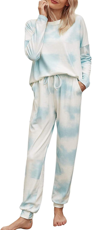 Donnalla service Women Tie Dye Pajama Set Soft Co Loungewear NEW before selling Long Sleeve