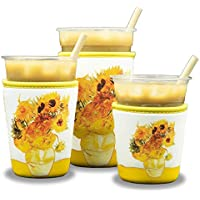 3-Pack Reusable Insulated Neoprene Iced Coffee Cold Drink Cup Holder