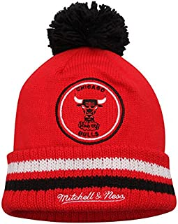 pretty nice 3b752 7220d NBA Mitchell and Ness Big Man Hi Five Knit Hat with Pom