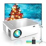 Proyector, Proyector Soporta 4K, Proyector Full HD 1080P Nativo, 7200 Brillo 9000:1, Sonido HiFi con Dolby, 6D...