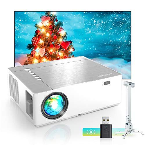 Bomaker Beamer 7200, Native 1080p Beamer Full HD, 4K, ±50° 5D Elektronische Korrektur, 50% Verkleinerung, unterstützt Dual HDMI TV Stick Xbox Laptop, iOS/Android Smartphone Projektor