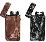 Atomic Lighters 2 Pack - Tesla Coil Lighter USB Rechargeable - Dual Arc Electronic Lighter Electric Plasma 3 Designs