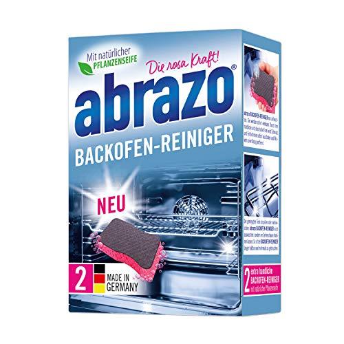 abrazo Backofen-Reiniger antibakteriell Reinigungs-Schwamm Backöfen Reinigungskissen für Küche 2x verseifter Backofenreiniger