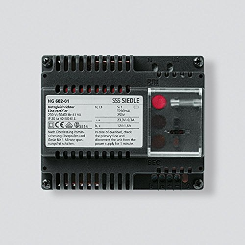 Siedle 2543973 Netzgleichrichter 230 V/50-60 Hz, 12 V AC Ng 602-01 De