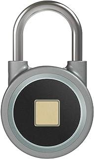 Candado de Combinacion,Candado Impermeable IP66,10 Grupos Huellas Dactilares,Alarma de Baja Tensi/ón,USB Recargable Smart Lock para Puerta,Gimnasio,Maleta,Oficina Tangxi Candado de Huellas Dactilares