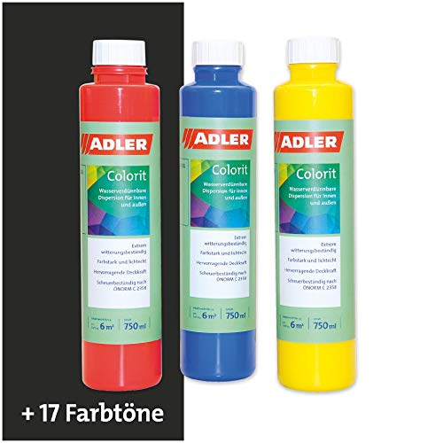 Colorit-AF 510 Abtönfarbe Volltonfarbe 750ml OX-Schwarz Wandfarbe