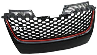 Badgeless Style GTI Honeycomb Style Front Center Grille For Volkswagen VW Golf Jetta MK5 GTI GLI 2.0T