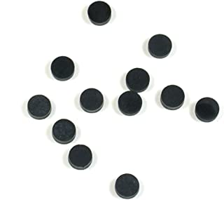 (D71) 12 Black Inlay Dots for Maple Fretboard 6.25mm dia.