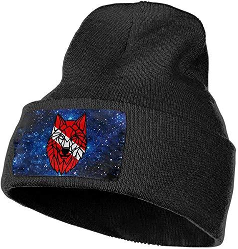 ORANGEW Boys and Girls Beanie Hat Galaxy Geometric Wolf Scuba Dive Flag Retro Cuffed Plain Skull Knit Hat Cap Sports Fan Watch Cap Black