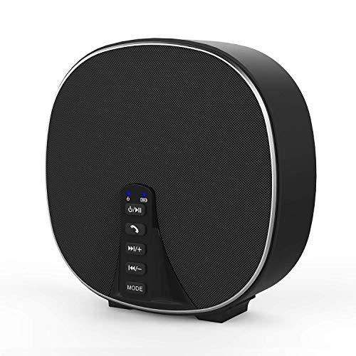 Altavoz Bluetooth inalámbrico estéreo portátil 5.0 con radio FM, controlador de 10 vatios, 2000mAh Batería de hasta 8 horas de reproducción, mega bajos mejorados, manos libres con micrófono incorporad