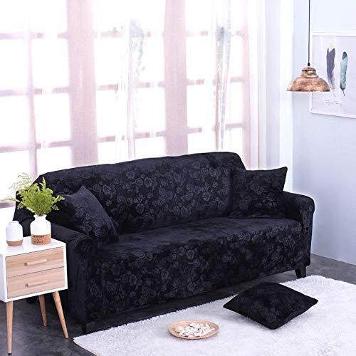 MODI Sofa Slipcover Printed Flower Thick Custom Sofa Cover Stretch General European Style 1/2/3/4 Seater Grey Black Living Room,lake blue,Pillow case
