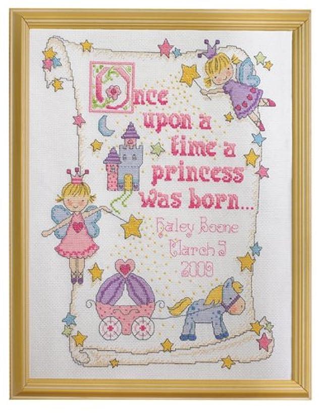 Bucilla Counted Cross Stitch Birth Record Kit, 10 by 13-Inch, 45328 Princess