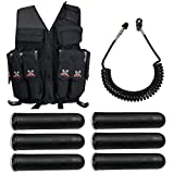 Maddog Tactical Attack Vest w/Pods & Standard Remote Coil Paintball...