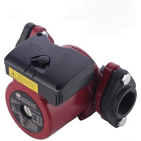 AB WiseWater循環ポンプ温水再循環ポンプ温水放射暖房床暖房その他の給湯器システム用のめねじフランジ付き3速切り替え可能循環ポンプ