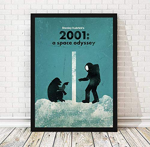 Stanley Kubrick 2001 A Space Odyssey Minimalist Movie Poster, Artwork Print, Horror Film Artwork, Vintage Poster, Unframed Print, Office Decor, Home Decor, Wall Hanging, Cafe Decor