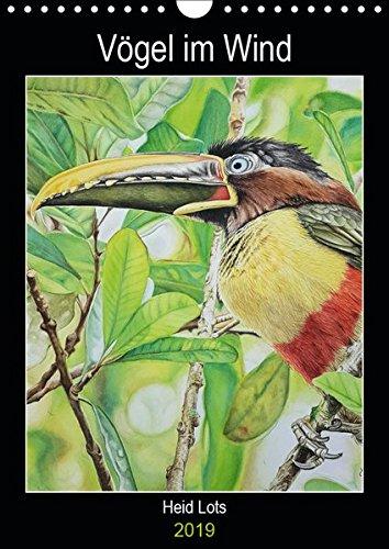 Vögel im Wind (Wandkalender 2019 DIN A4 hoch): Vögel die in Argentinien leben und auf Aquarell verewigt bleiben. (Planer, 14 Seiten )
