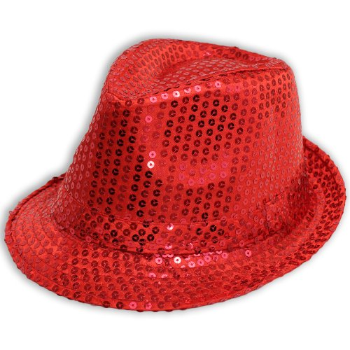 Sofias Closet Sequin Sparkle Fancy Dress Trilby Hat Fedora Dance MJ Silver