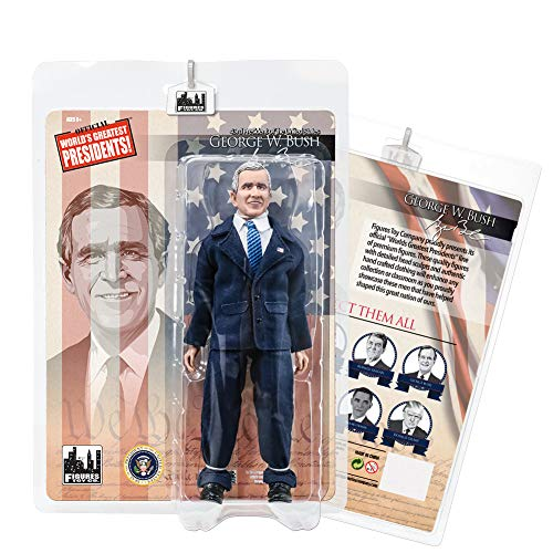 Figures Toy Company US Presidents 8 Inch Action Figures Series: George W. Bush [Blue Suit]