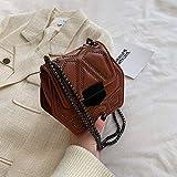 Bolsos Mujer,Bolso Hombre Cadena Nueva Remache Retro de los Bolsos del Estilo New Western nicho francés de Bolsa de Mensajero de Las Mujeres pequeño Bolso de Moda de la Moda del Bolso de Hombro del e
