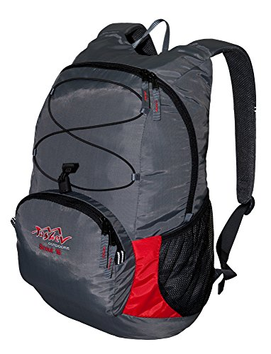 Daypack Tashev Outdoors Scout 16 Liter Kinderrucksack Universal Rucksack (Hergestellt in EU) (Grau & Rot)