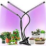 ZJWN Planta Lámpara de Planta, 30W LED Lámpara de Planta para Plantas de Interior, 4 Cabezale Lámpara de Planta Espectro Completo Lámpara de Crecimiento Grow Light Indoor con 3 Modos de conmutación,A
