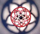Venusblume | Lampe | Wandbeleuchtung | Holz | Holzlampe | Liebe | Harmonie | Lichtspiel an der Wand | inkl. kopfverspiegleter LED-Lampe und Kippschalter | Ø 44cm | ca. Ø 80cm...