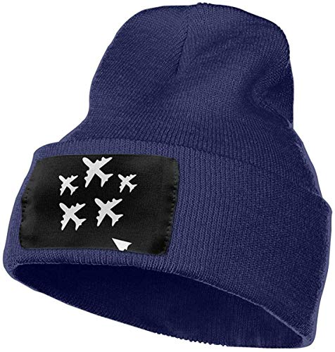 Skull Caps Mama Bear Winter Warm Knit Hats Stretchy Cuff Beanie Hat Black